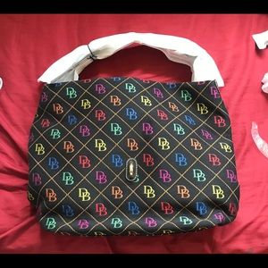 D&B Multi Color Logo Lock Bag